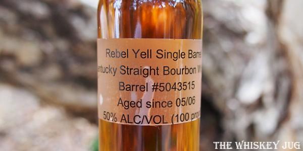 Rebel Yell 10 Years Single Barrel 2017 Label