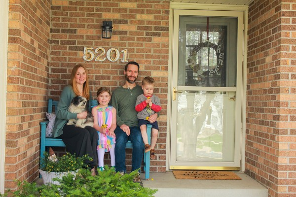 Coronavirus porch project family photo -