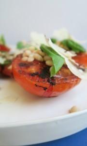 Grilled Tomato White Bean Salad