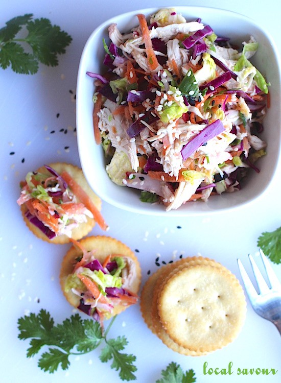 Chicken + Brussels Sprout Slaw Salad | LocalSavour.com
