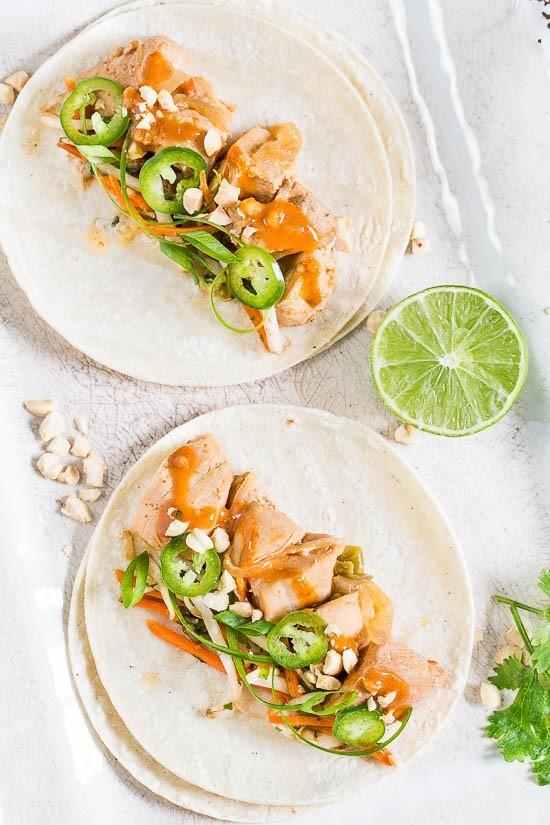 Thai Chicken Tacos-15