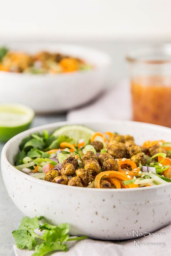 Thai Roasted Crispy Chickpeas with Cucumber & Carrot Noodle Salad-88