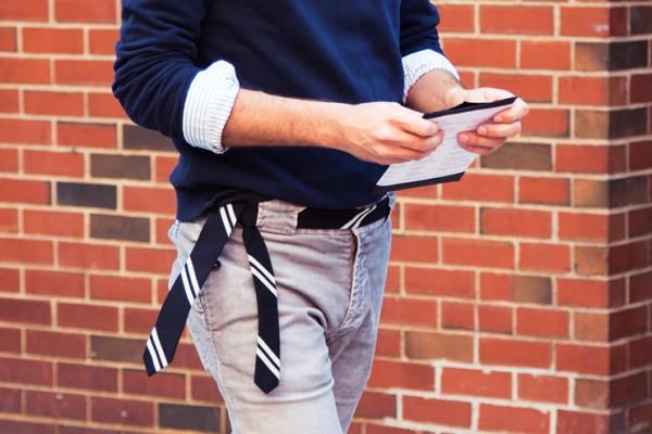 Tie as belt