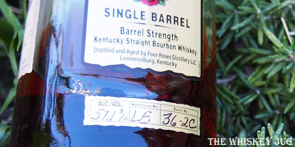Four Roses OBSQ K&L Single Barrel Label