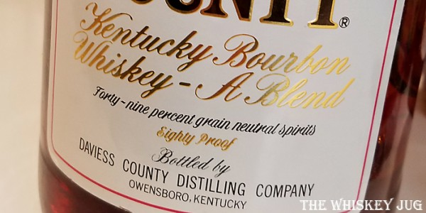 1980s Daviess County Blended Whiskey Label