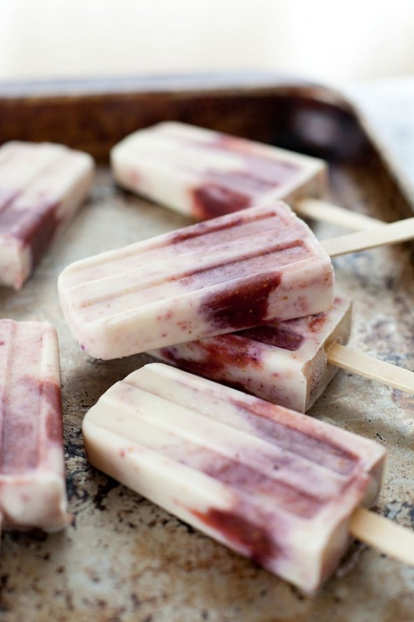 Honey Roasted Fig and Goat Cheese Popsicles | Snixy Kitchen
