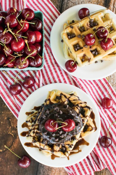 Cherry Chocolate Chip Waffles Image