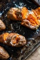 Roasted Sweet Potatoes with Smoked Cheddar | infinebalance.com