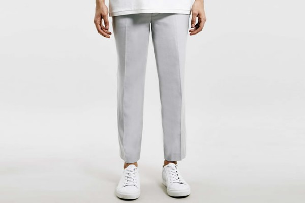 Lux Grey Twill Skinny Cropped Trousers