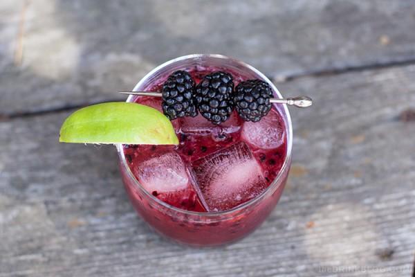 top shot of the mezcal blackberry smash