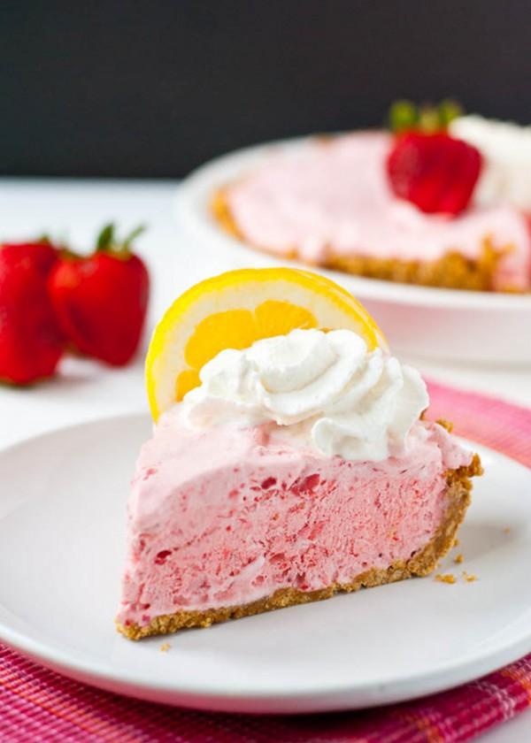 Frozen Strawberry Lemonade Pie   Neighbor Food