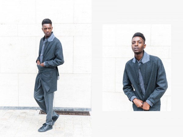 H&M Men's Collection FW/15 Style Guide by JON THE GOLD - monochrone look for men with layers of grey with stan smith sneakers