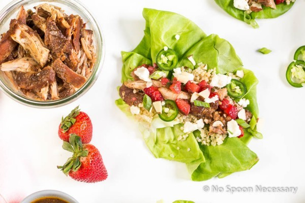Strawberry Chicken Lettuce Wraps-22
