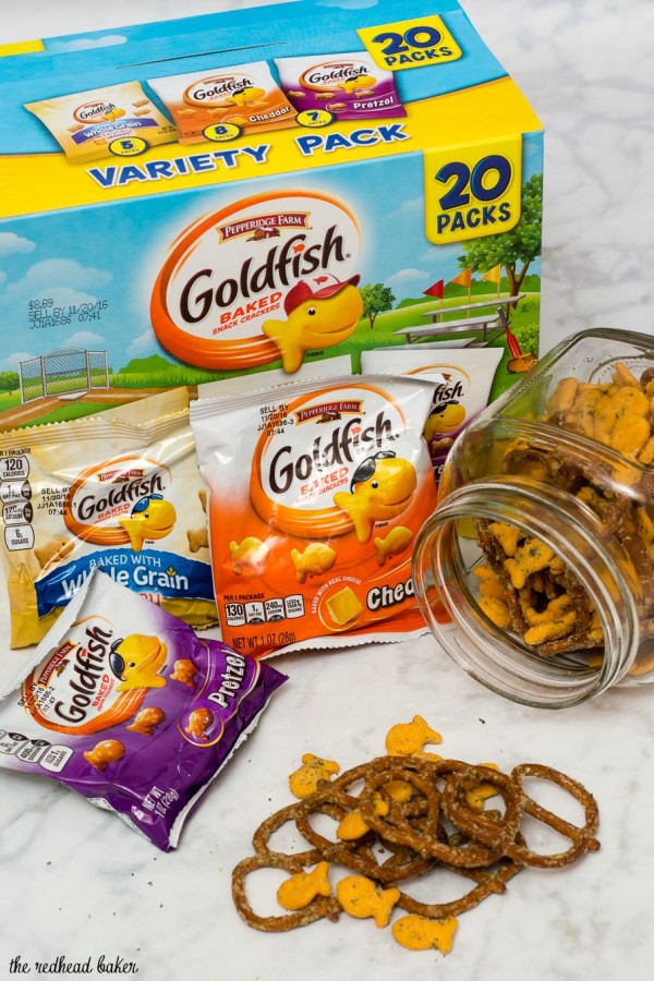 Back-to-school is a busy time. Snack smarter with Ranch Goldfish® Snack Mix, perfect for after-school or on-the-go. #MixMatchMunch #ad