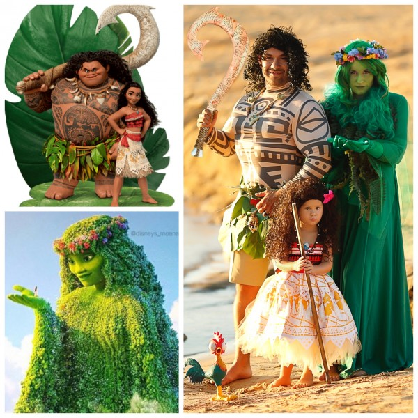 When your 3 year old loves Moana and Dad wears a grass skirt to become a demigod