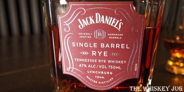 Jack Daniel's Single Barrel Rye Label