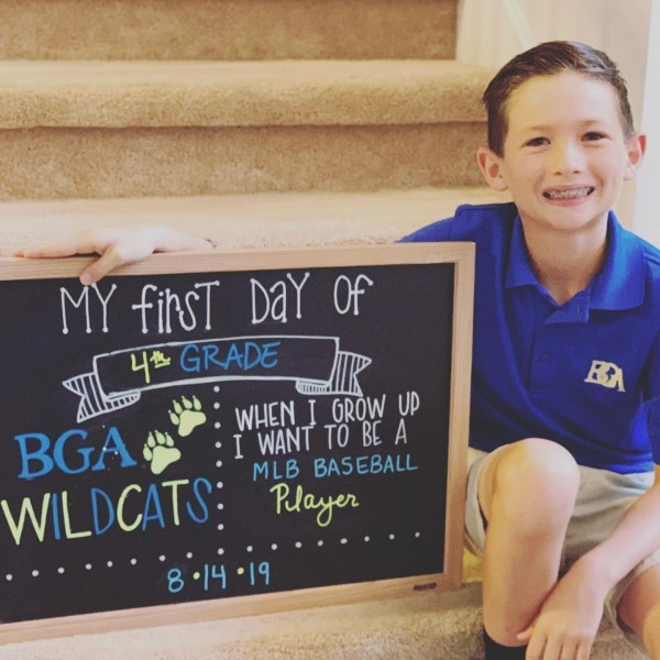 Thackston first day of 4th grade