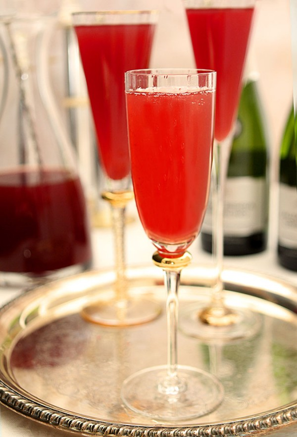 Pomegranate Mimosas