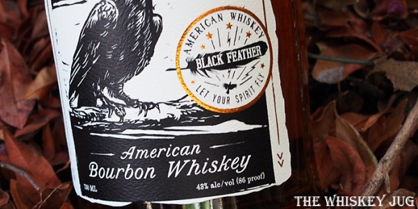 Black Feather American Bourbon Whiskey Label