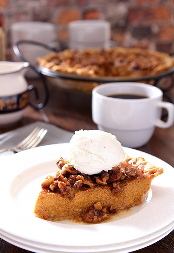 Bourbon Pumpkin Pie with Toasted Walnuts DrinkWire