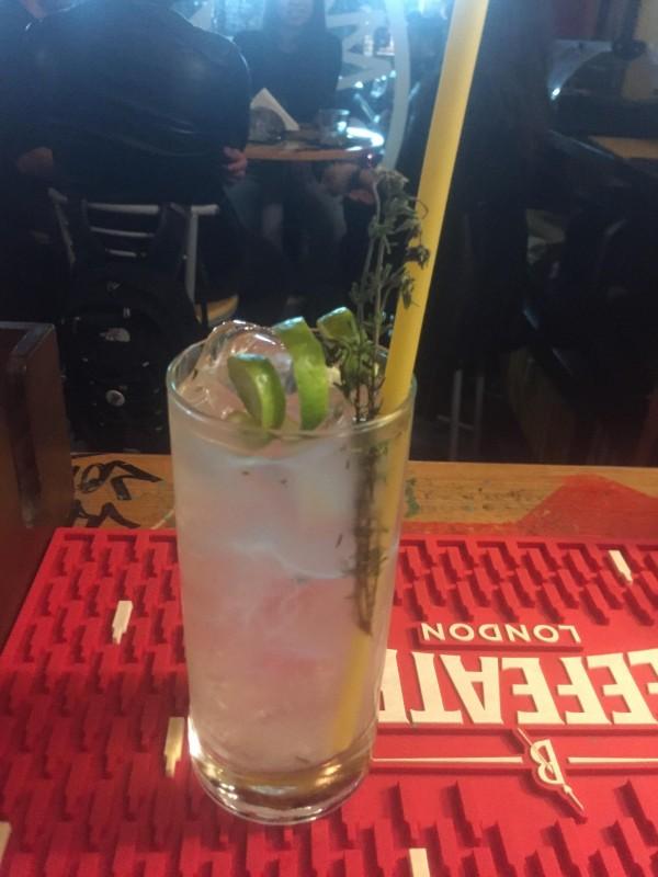 Shogun, a refreshing twist of gin tonic, with gin, sake, yuzu liqueur and mediterranean tonic water