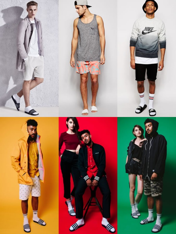 Men's Pool Sliders Spring/Summer Outfit Inspiration Lookbook