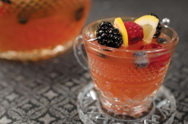 Champagne punch bowl