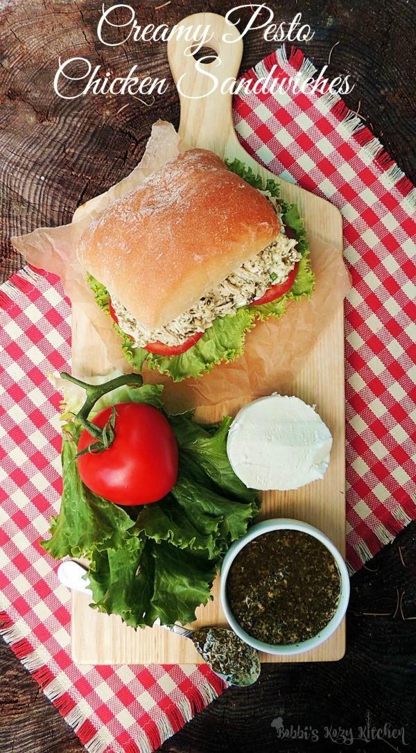 Creamy Pesto Chicken Sandwich