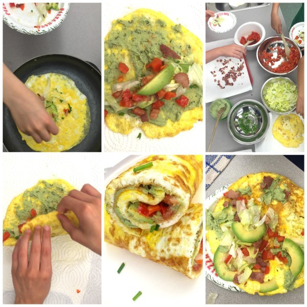 Cheesy omelette wraps with bacon, lettuce, avocado and tomato by Mardi ...