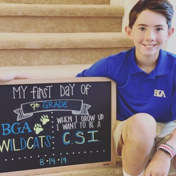 Dixon's first day of 7th grade