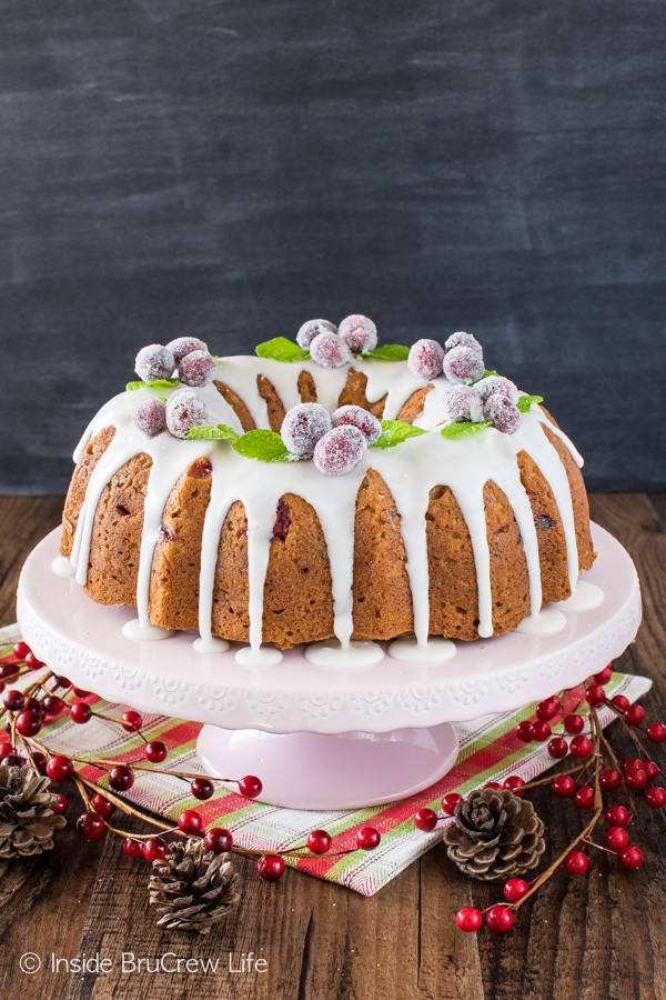 Cranberries, apples, and nuts add a great texture to this easy Apple Cranberry Bundt Cake. Great recipe for holiday parties!