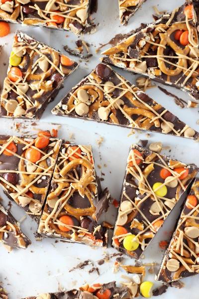 Chocolate Peanut Butter Pretzel Bark Pic