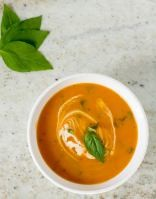 Slow Cooker Creamy Tomato Soup   infinebalance.com #recipe