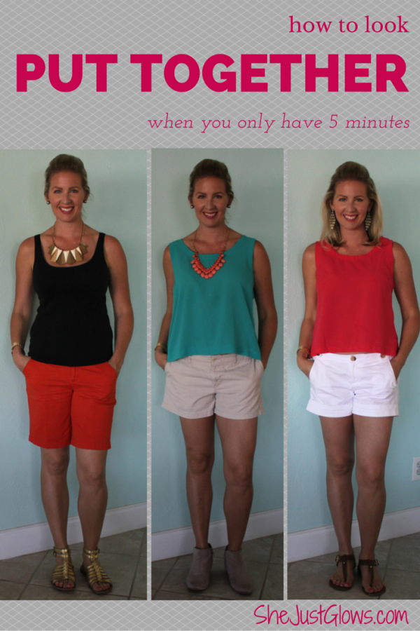 How to Look Put Together When You Only Have 5 Minutes SheJustGlows.com