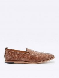 H By Hudson Ipanema Woven Loafers In Tan