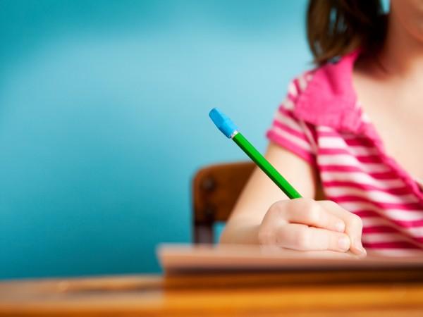 Girl Writes Letter