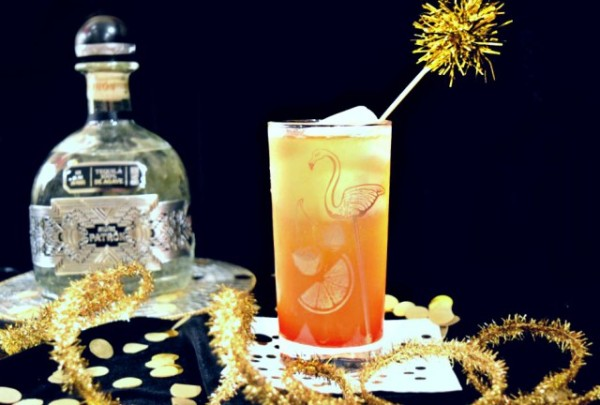 Year's Cocktail! With Patron Silver 2016 Limited Edition Tequila, Mandarin Juice, Homemade grenadine and Champagne! | Bit by a Fox Blog