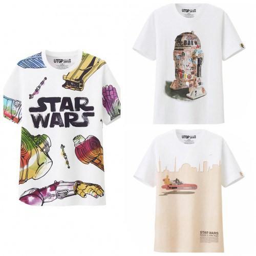 From (L to R) UTGP Star Wars - Chewbacca/C-3PO Graphic T-Shirt $19.90, UTGP Star Wars R2-D2 T-Shirt $19.90, UTGP Star Wars - Grand Prix T-Shirt $19.90