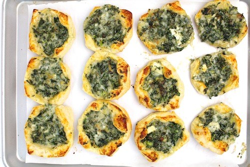 Kale + Gruyère Puff Pastry Tartlets | LocalSavour.com