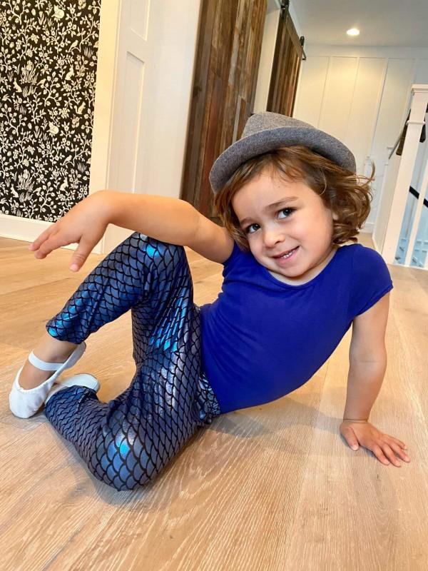 dancing toddler posing