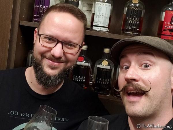 Josh and Winston at Balcones