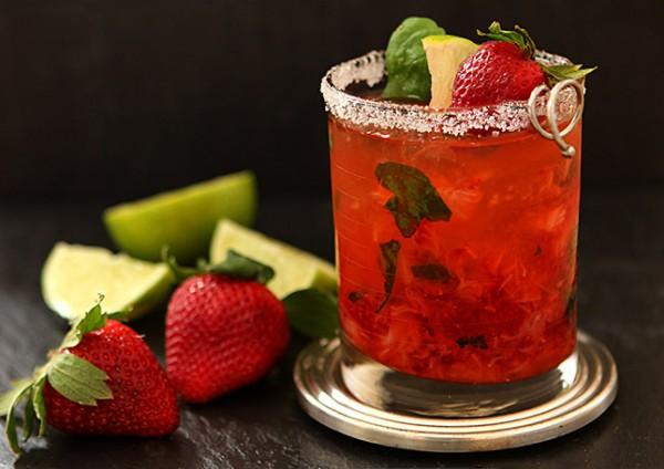 Strawberry Basil Margarita from Creative-Culinary.com