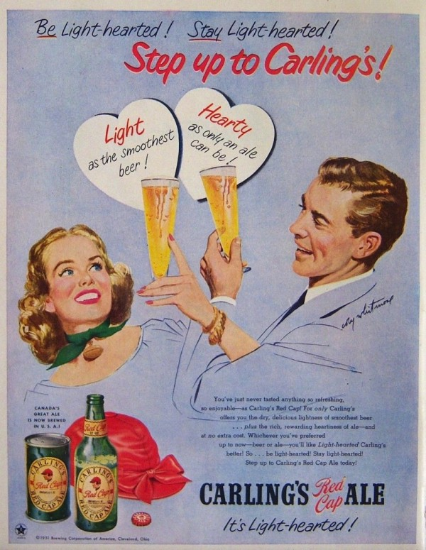 A 1951 ad for Carlings Ale