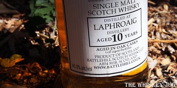 Battlehill Laphroaig 10 Label