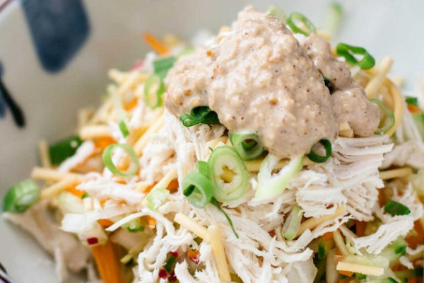 Asian Chicken Salad with Sesame Dressing Photo