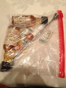 TSA-proof in flight cocktail making kit at the Airport Bars seminar