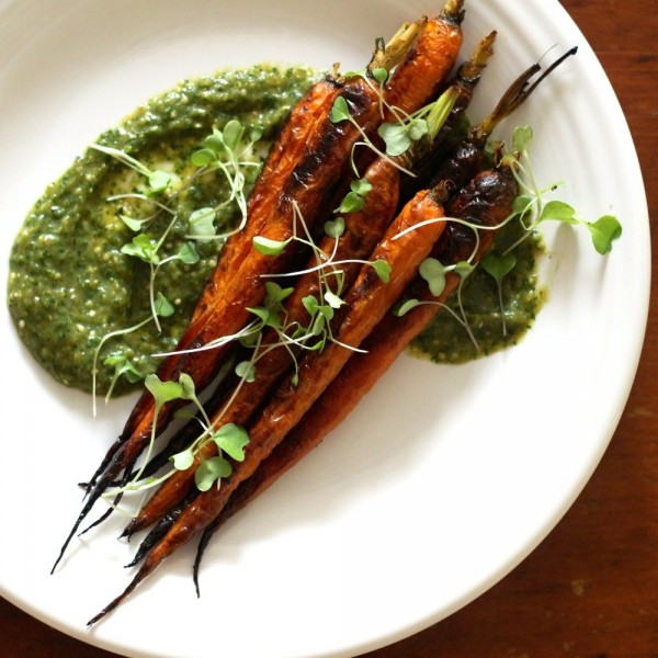 Carrots with Tomatillo Sauce
