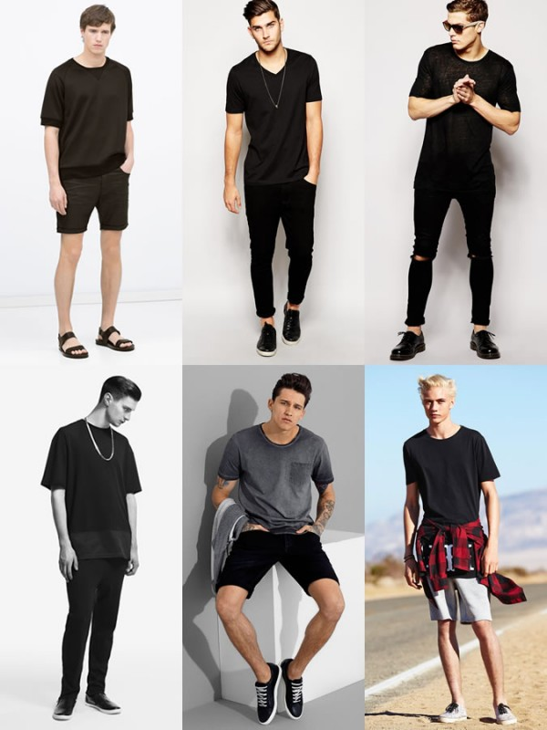 Men's Black and Monochrome Spring/Summer Outfit Inspiration Lookbook