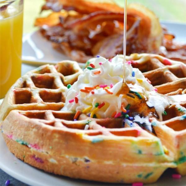 Funfetti Waffles Pic