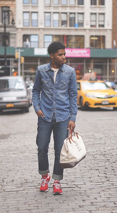 double denim canadian tuxedo menswear